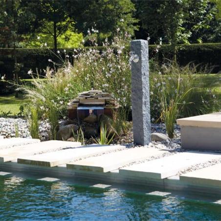 Fontaine de jardin GRANIT gris foncé
