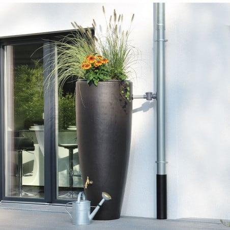 Récupérateur d'eau 2 en 1 Moka 300L avec Bac à Fleur Amovible