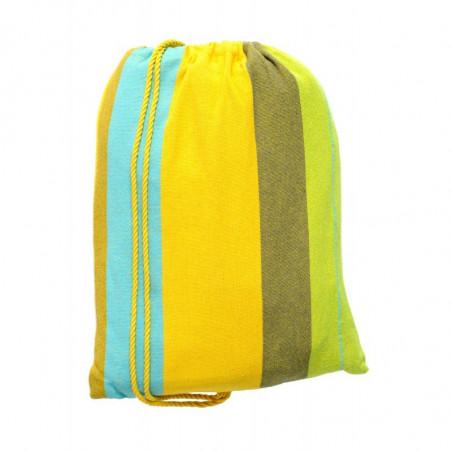 Hamac Colombie rayé jaune