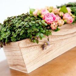 Jardinière en bois 24 cm