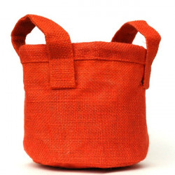 Cache pot en toile orange 19 cm