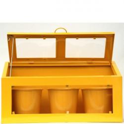 Mini serre jaune