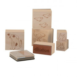 Coffret tampons animaux Moulin Roty
