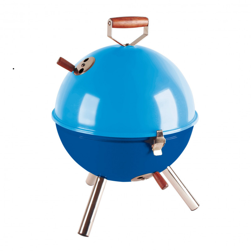 barbecue de table bleu