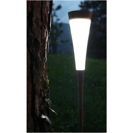 lampe solaire de jardin Roseau